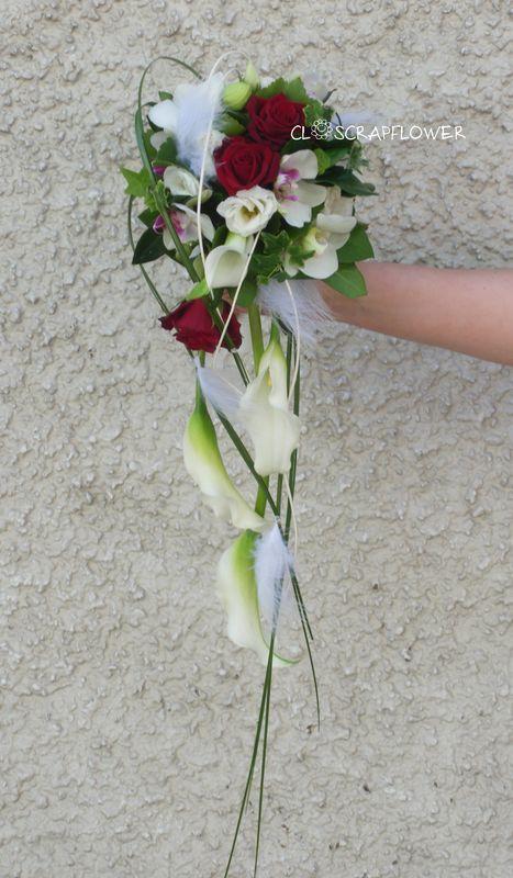 bouquet mari e tombant rouge et blanc recherche google bouquets pinterest google. Black Bedroom Furniture Sets. Home Design Ideas