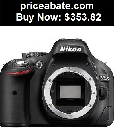 Camera-And-Photo: Nikon D5200 24.1 MP Digital SLR Camera - Black (Body Only) - BUY IT NOW ONLY $353.82