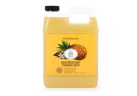 Fruits & Passion Foaming Bath in Vanilla Pineapple (1L Refill)