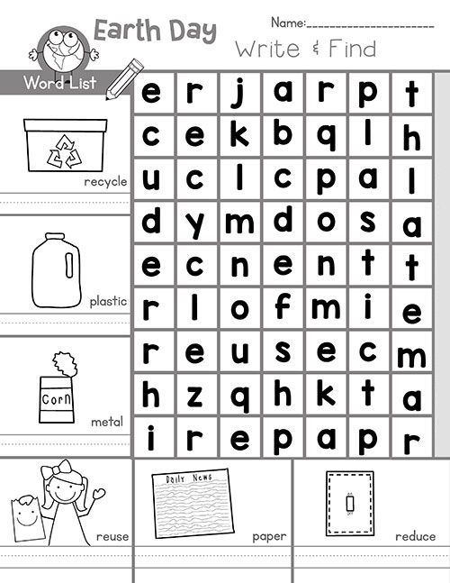 Earth Day Word Search Best Coloring Pages For Kids Earth Day Worksheets Kindergarten Worksheets Kids Worksheets Printables Recycling worksheets for preschoolers