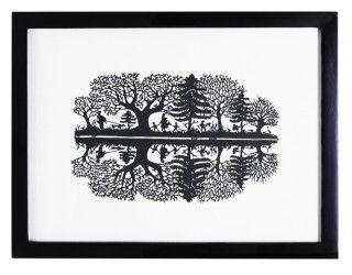 reflections papercutting