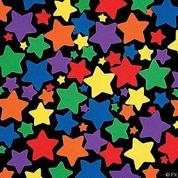 "Star Foam Shapes 400 stars- $5.99 0.5-2"" shape assorted sizes"
