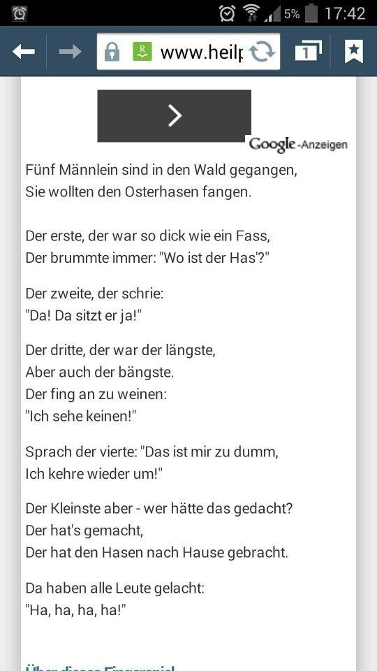 Fingerspiel zu Ostern | ☆Fingerspiele, Lieder und Co ...