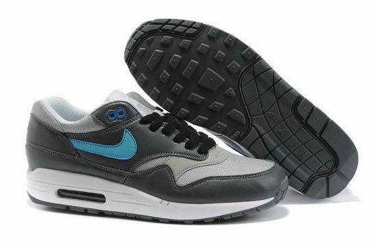 QTb9CU Men Nike Air Max 1 Grey Gray Blue