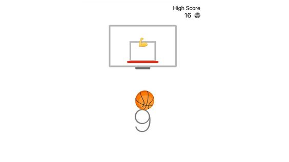 Voilà votre journée de travail est terminée... This is how you play Facebook Messenger's secret basketball minigame