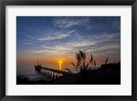 Framed Pierfect Sunset Silhouette