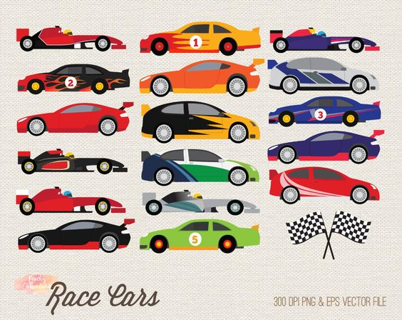 Buy 3 Get 30 Off Race Car Clipart Racing Car Clipart Race Etsy Race Cars Car Silhouette Clip Art