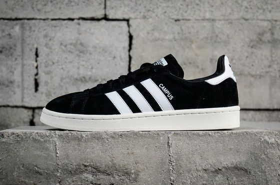Mens Adidas Campus Black White Trainers Shoes SIZE 10 BZ0084