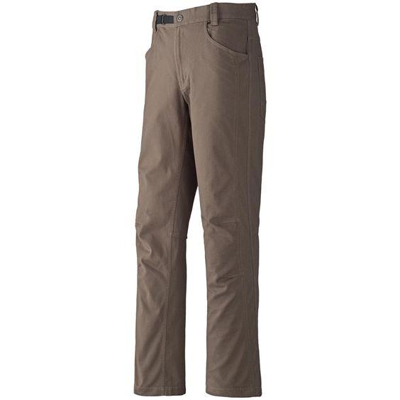 MEC Super Burl Pants - Here's where I love em: 98% organic cotton, 2% spandex.  Perfect comfort fit.