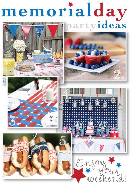 Memorial Day Party Inspiration Board via Paisley Card Co.