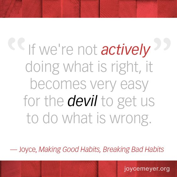 If We're Not Actively Doing What Is Right, It Becomes Very