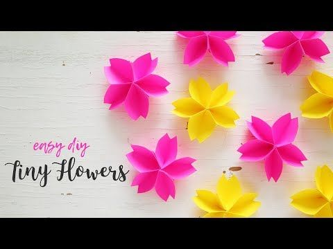 Diy Tiny Paper Flowers Paper Flower Making Youtube Paper Flowers Craft Paper Flowers Hanging Paper Flowers