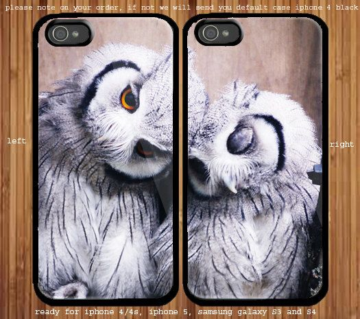 A Pair Of White Owl for couple case iphone 4/4s iphone by LisavBui, $31.99