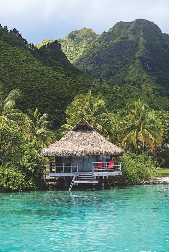 """Moorea Tahiti - the Bali Hai island from """"South Pacific"""".  very rough, windy boat ride from Papeete, but worth it!"""