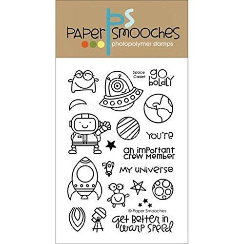 Paper Smooches Clear Stamps, 4 by 6-Inch, Space Cadet Pap...