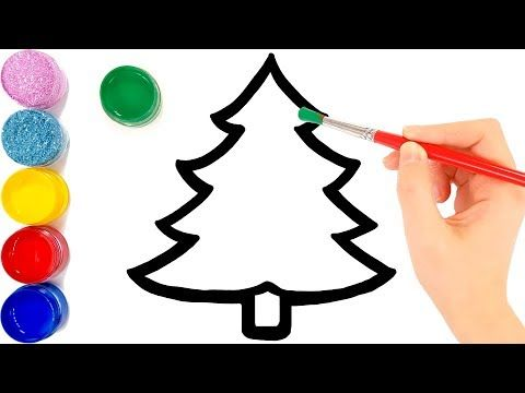Glitter Christmas Tree Ornaments Coloring And Drawing For Kids Toddlers Jolly Toy Art Youtube Drawing For Kids Coloring For Kids Art Toy
