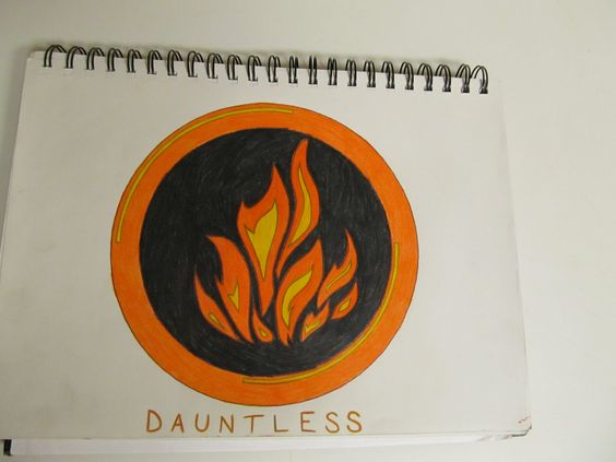 dauntless symbol from divergent my drawings and whatnot