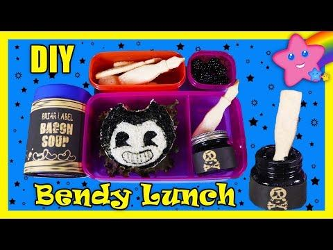 Bendy And The Ink Machine Diy Back To School Lunch Youtube With