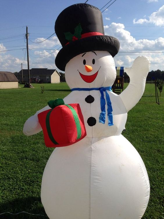 7 ft tall holiday airblown christmas inflatable snowman for Airblown christmas decoration