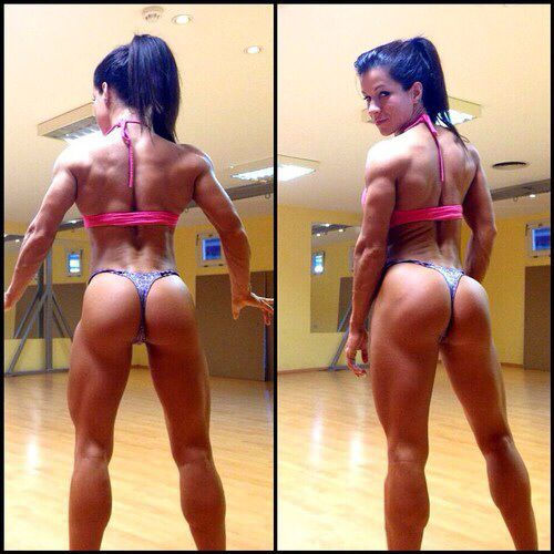 Muscular female butt