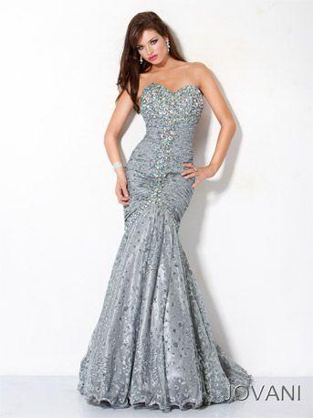 Jovani 4260 stunning silver leopard mermaid prom gown with glitz ...
