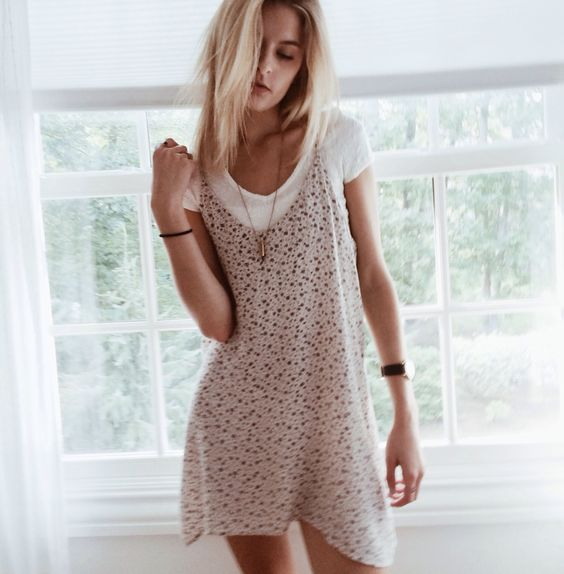 Cute layered dress look #style: