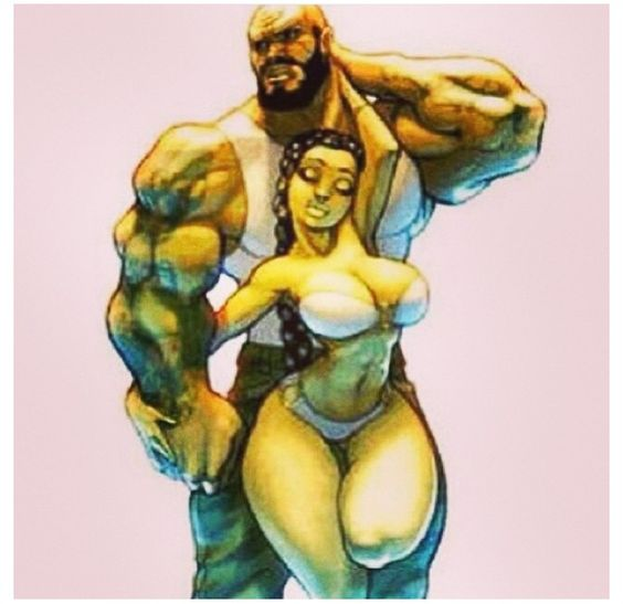 Personally I like my men mean, and lean but this art work is right on the money!