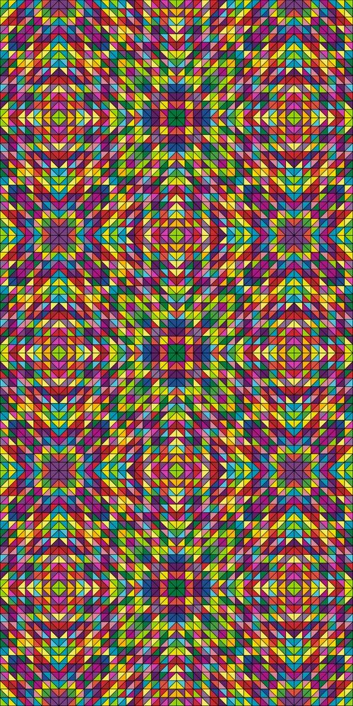 108 Colorful Seamless Kaleidoscope Triangle Patterns Triangle
