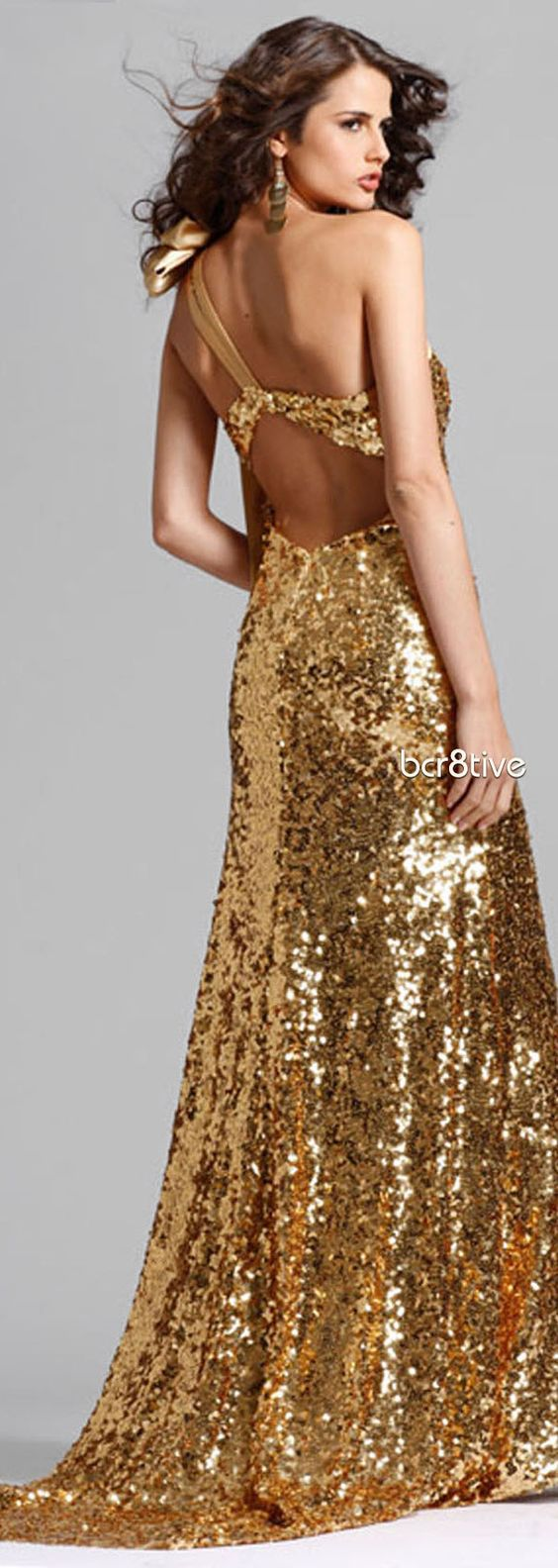 Gold Sequin Prom Dress  Gold  Pinterest  Cas Prom dresses and ...