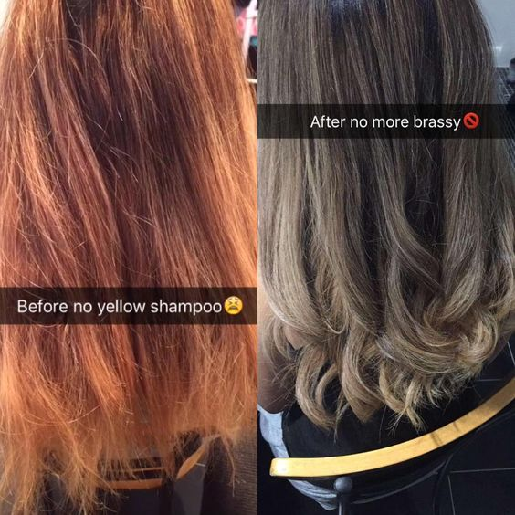 Before Amp After No Yellow Shampoo I Cant Get Over This I