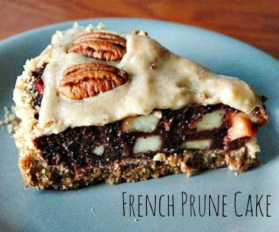 French Prune Cake. You will love the prunes in this one. #prunecake