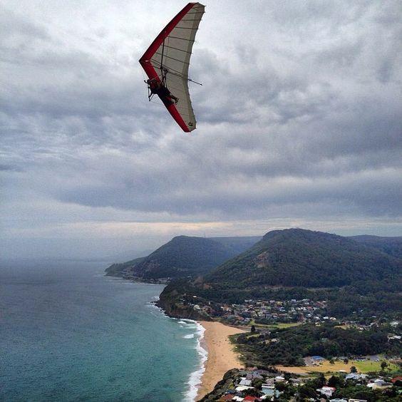 Hang gliding south of #Sydney #Australia    Photo by seeaustralia