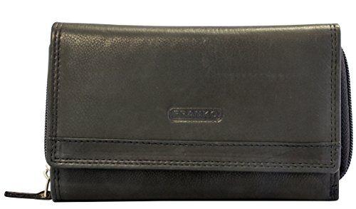 Damen Portmonee RFID Schutz Hütmann Portemonnaie echtes Leder Geldbörse