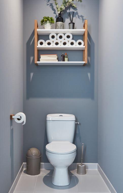 Etagere De Salle De Bains Goodhome Nantua L 64 X H 53 X P 20 Cm Meuble Rangement Salle De Bain Idee Deco Toilettes Decoration Salle De Bain