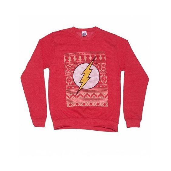 Unisex Red DC Comics Flash Fair Isle Christmas Sweater ($60 ...