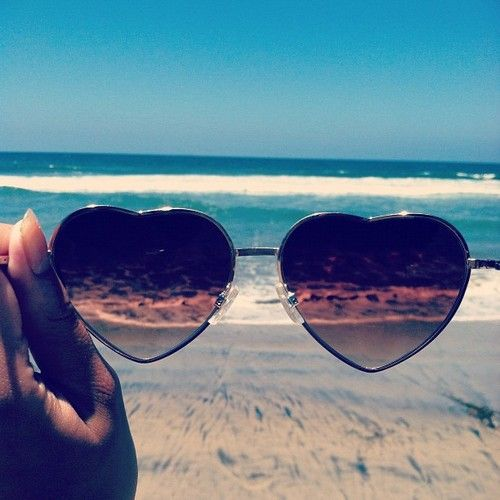 beach glasses - love