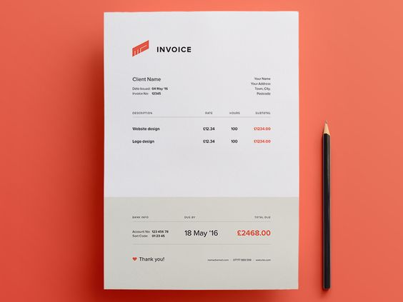 Blue Skies File format pdf This modern, sleek PDF invoice - invoice template freelance