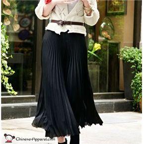 Bohemia Women Dress Pleated Wave Chiffon Maxi Long Skirt  Price: $15.98  FREE WORLD-WIDE SHIPPING