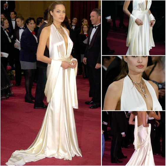 Good Quality Sexy Angelina Jolie Red Carpet Oscar Cheap Celebrity ...