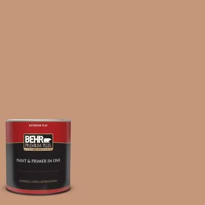 Behr Premium Plus 1 Qt Hdc Ac 02 Copper Moon Flat Exterior Paint And Primer 430004 The Home Depot The Home Depot Interior Paint Exterior Paint Behr Ultra