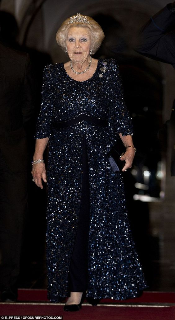 Princess Beatrix of the Netherlands also attended the glamorous soiree