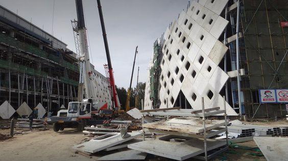 Dada Complex For The 7th International Strawberry Symposium Precast Concrete Curved Walls Facade