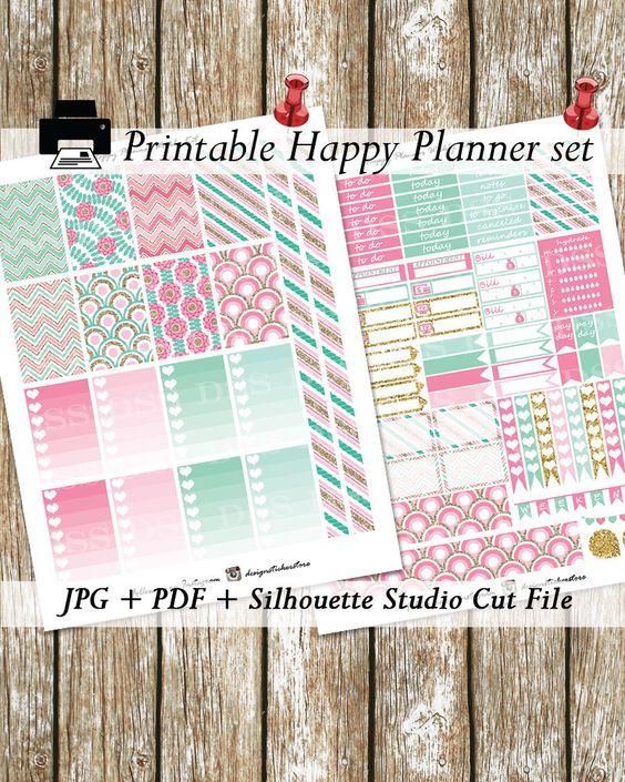 50%OFF SALE!!!/Pink Mint Gold Happy Planner Stickers/Printable Happy Planner Stickers/Mambi Planner Stickers/Happy Planner Stickers von DesignStickerStore auf Etsy https://www.etsy.com/de/listing/271876774/50off-salepink-mint-gold-happy-planner