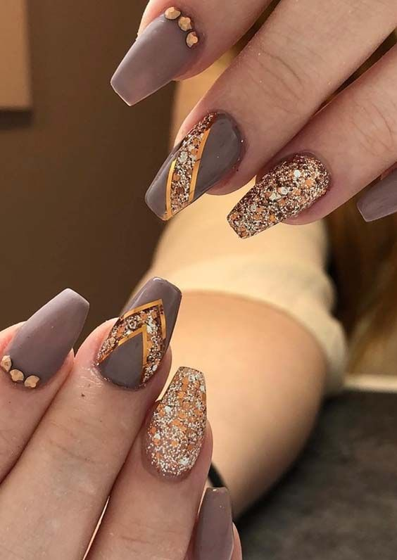 46 Gorgeous Dark Beige Nail Polish Images For 2018 Stylescue Beige Nails Stylish Nails Designs Nails