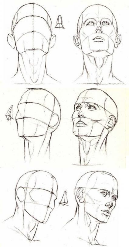 57 Ideas for drawing reference head positions #drawing