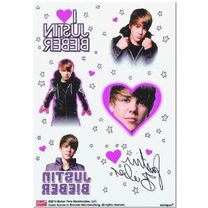 Justin Bieber Tattoo Sheets  4 sheets Paiges 6th birthday | tattoos picture justin biebers tattoo