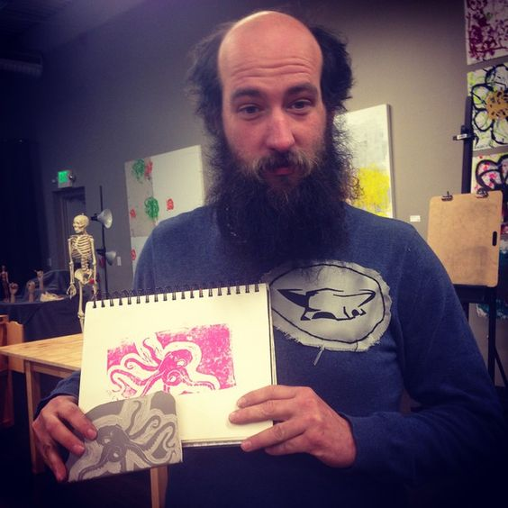 """Lino cut block prints are so much fun"""