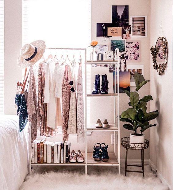 #clothingrack #closet #closetorganization #closetideas #closetgoals #closetmakeover #bedroominspo #cozybedroom