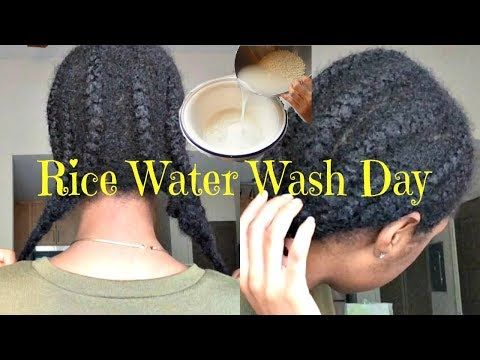 Hair Growth Challenge Protective Style Wash Day With Rice Water Youtube Hair Growth Challenge Natural Hair Styles Easy Water Hair Growth