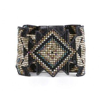 Dakota - Bracelet manchette - noir - Hipanema - Nouvelle Collection et ventes privées - Ref: 1611560 | Brandalley